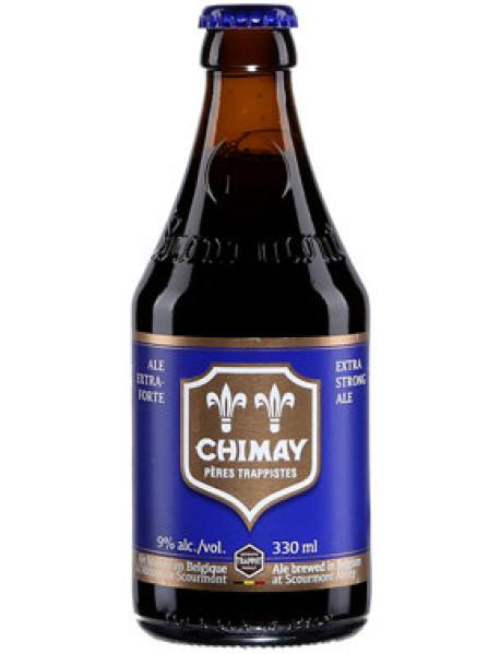 CHIMAY BLEUE - Bere bruna 9% alc. - 0.33l / bere trapista Belgia