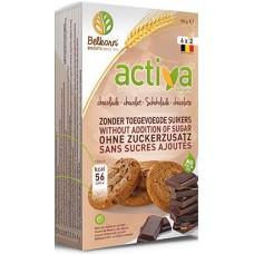BELKORN - Activa, biscuiti cu ciocoata, fara zahar - 150g / produs in Belgia