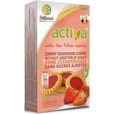BELKORN - Activa , biscuiti cu capsuni, fara zahar - 150g / produs in Belgia