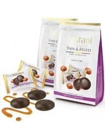 BOSTANI - discuri de ciocolata neagra cu caramel sarat - 120g / produs in Belgia