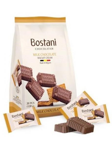 BOSTANI - ciocolata cu lapte si crema de biscuiti - 120g / produs in Belgia