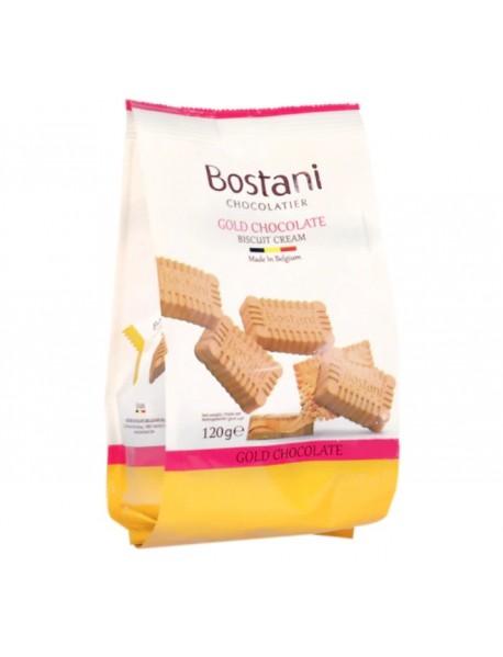 BOSTANI - ciocolata aurie si crema de biscuiti - 120g / produs in Belgia