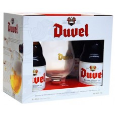 DUVEL - Gift Pack 4 sticle 0.33l + 1 pahar / bere speciala Belgia