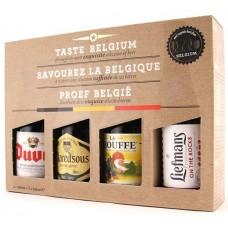 Gift Pack 4 Beri Belgiene 4st 0.33l: Duvel, Maredsous, LaChouffe, Liefmans / bere speciala Belgia