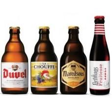 Duvel - Oferta speciala - 4 Beri Belgiene din braseriile producatorului Duvel Moortgat: Duvel, Maredsous, LaChouffe, Liefmans / bere speciala Belgia