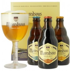MAREDSOUS - Oferta Speciala  - 3 beri Maredsous: 2 beri BRUNE ,1 bere TRIPLE 0.33l + 1 pahar / bere de abatie Belgia