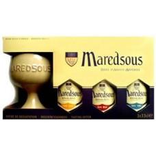 MAREDSOUS - Gift Pack 3 sticle 0.33l  + 1 pocal / bere de abatie Belgia