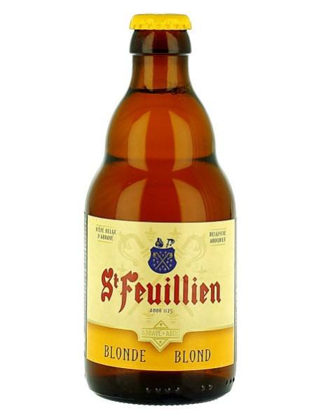 ST-FEUILLIEN BLOND - Bere blonda 7.5% alc. - 0.33l / bere de abatie Belgia