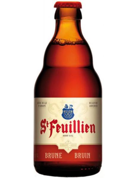 ST FEUILLIEN BRUNE - Bere bruna 8.5% alc. - 0.33l / bere de abatie Belgia