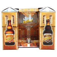 KASTEEL - Gift Pack 4 sticle 0,33l + 1 pahar / bere speciala Belgia