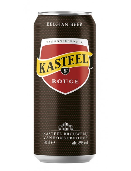 KASTEEL ROUGE - Bere aramie 8% alc. - doza 0.5l / bere speciala Belgia
