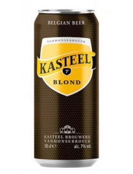 KASTEEL BLOND - Bere blonda 7% alc. - doza 0.5l / bere speciala Belgia