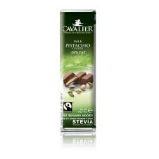 CAVALIER - Baton ciocolata lapte si fistic - 30% grasimi - 40g - cu stevia / produs in Belgia