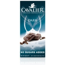 CAVALIER - Tableta ciocolata neagra, fara zahar adaugat - 85g / produs in Belgia