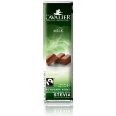 CAVALIER - Baton ciocolata lapte - 44g - cu stevia / produs in Belgia