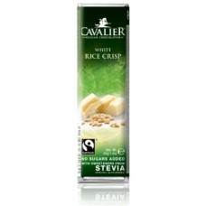 CAVALIER - Baton ciocolata alba si orez glasat - 40g - cu stevia / produs in Belgia
