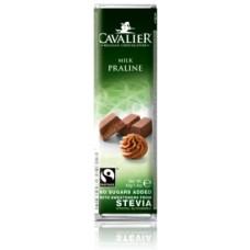 CAVALIER - Baton ciocolata lapte si crema pralinata - 40g - cu stevia / produs in Belgia