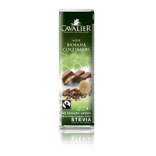 CAVALIER - Baton ciocolata lapte si banane - 40g - cu stevia / produs in Belgia