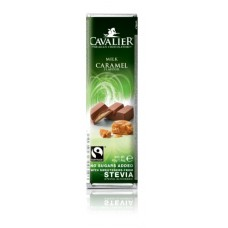 CAVALIER - Baton ciocolata cu lapte si caramel - 40g - cu stevia / produs in Belgia