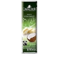 CAVALIER - Baton ciocolata alba si cocos - 40g - cu stevia / produs in Belgia