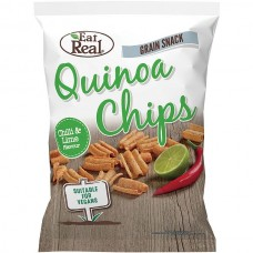 EAT REAL - Chips de Quinoa - ardei chilli si lime - 30g / produs in Anglia