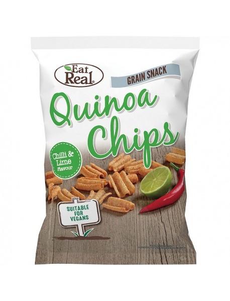 EAT REAL - Chips de Quinoa - ardei chilli si lime - 30g / produs in Anglia