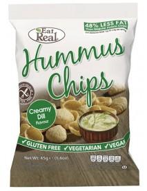 EAT REAL - Chips de humus cu crema de marar - 45g / produs in Anglia
