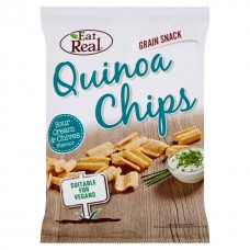 EAT REAL - Chips de Quinoa cu smantana si chives - 30g / produs in Anglia