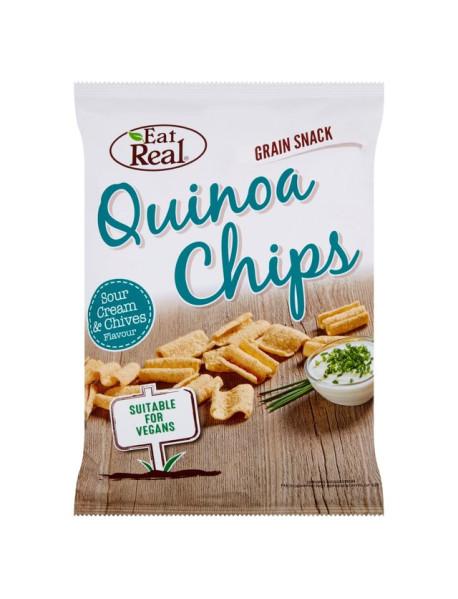 EAT REAL - Chips de Quinoa cu smantana si chives - 30g / produs in Anglia