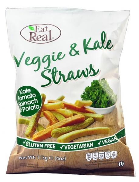 EAT REAL - Sticksuri vegetale si varza Kale - 113g / produs in Anglia