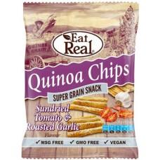 EAT REAL - Chips de Quinoa cu rosii si usturoi - 30g / produs in Anglia