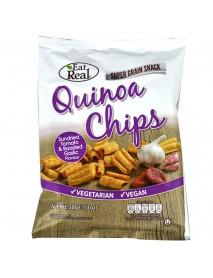 EAT REAL - Chips de Quinoa cu rosii uscate la soare si usturoi - 30g / produs in Anglia