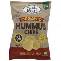 EAT REAL - Chips de humus, BIO, cu sare de mare - 100g / produs in Anglia