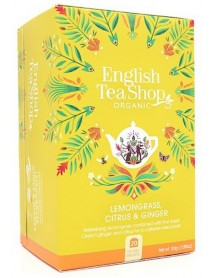 English Tea Shop - Ceai BIO - Lemongrass, citrice si ghimbir - plicuri - 30g / produs in Sri Lanka