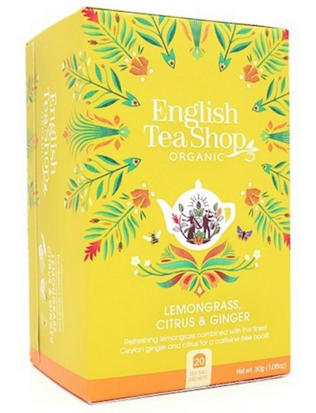 English Tea Shop - Ceai BIO - Lemongrass, citrice si ghimbir - plicuri - 30g / produs in Sri Lanka