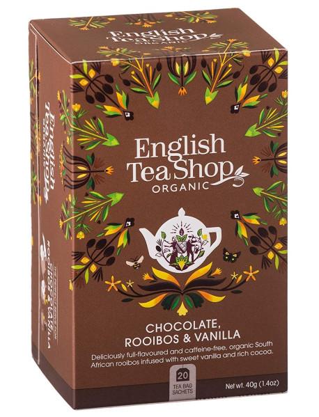 English Tea Shop - Ceai BIO - ciocolata, rooibos si vanilie - 40g - plicuri / produs in Sri Lanka