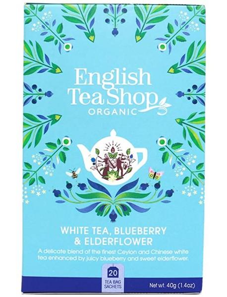 English Tea Shop - Ceai BIO - ceai alb, afine si flori de soc - 40g - plicuri / produs in Sri Lanka