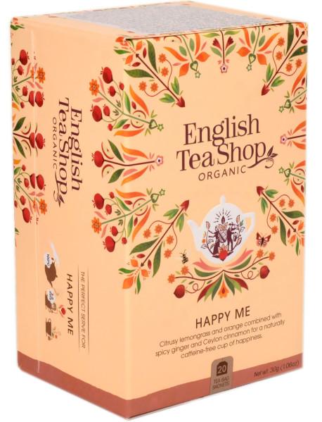 English Tea Shop - Ceai BIO - ayurvedic/wellness - Happy Me - 30g - plicuri / produs in Sri Lanka