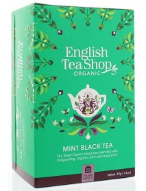 English Tea Shop - Ceai BIO - ceai negru si menta - 40g - plicuri / produs in Sri Lanka
