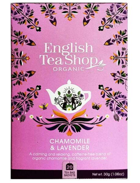 English Tea Shop - Ceai BIO - ceai de musetel cu lavanda - 30g - plicuri / produs in Sri Lanka