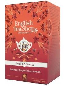 English Tea Shop - Ceai BIO - super goodness - ceai cu sfecla rosie, ghimbir si frunze de curry- 30g - plicuri / produs in Sri Lanka
