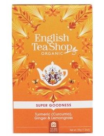English Tea Shop - Ceai BIO - super goodness - ceai cu turmeric (curcuma), ghimbir si lemongrass - 35g - plicuri / produs in Sri Lanka