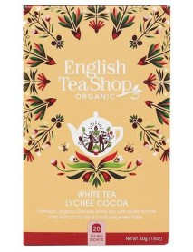English Tea Shop - Ceai BIO - ceai alb, lychee si cacao - 40g - plicuri / produs in Sri Lanka