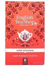 English Tea Shop - Ceai BIO - super goodness - ceai de hibiscus, cu mar, macese si scortisoara - 40g - plicuri / produs in Sri Lanka