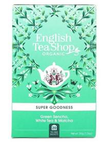 English Tea Shop - Ceai BIO - super goodness - ceai sencha verde, ceai alb si matcha - 35g - plicuri / produs in Sri Lanka
