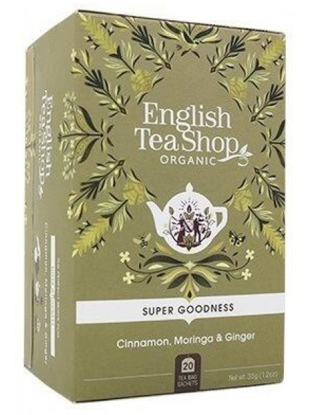 English Tea Shop - Ceai BIO - super goodness - ceai de scortisoara, moringa si ghimbir - 35g - plicuri / produs in Sri Lanka
