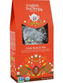 English Tea Shop - Ceai BIO - ceai negru chai - 37,5g - piramide / produs in Sri Lanka