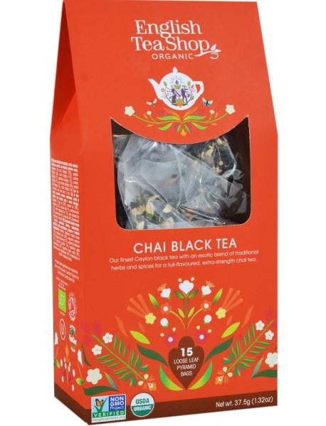 English Tea Shop - Ceai BIO - ceai negru chai - 37,5g - piramide / produs in Sri Lanka