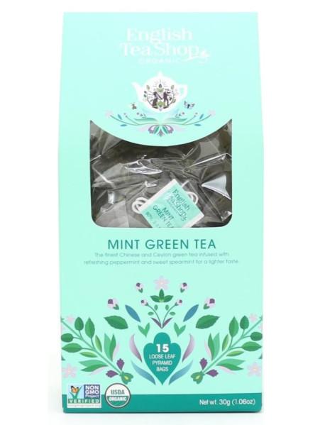 English Tea Shop - Ceai BIO - ceai verde si menta - 30g - piramide / produs in Sri Lanka