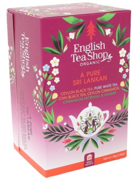 English Tea Shop - Ceai BIO - A Pure Sri Lankan - mix de 5 sortimente de ceai  39g - plicuri / produs in Sri Lanka